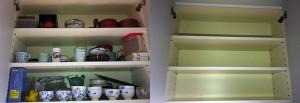 食器棚がからっぽに