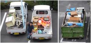 トラックとコンテナ